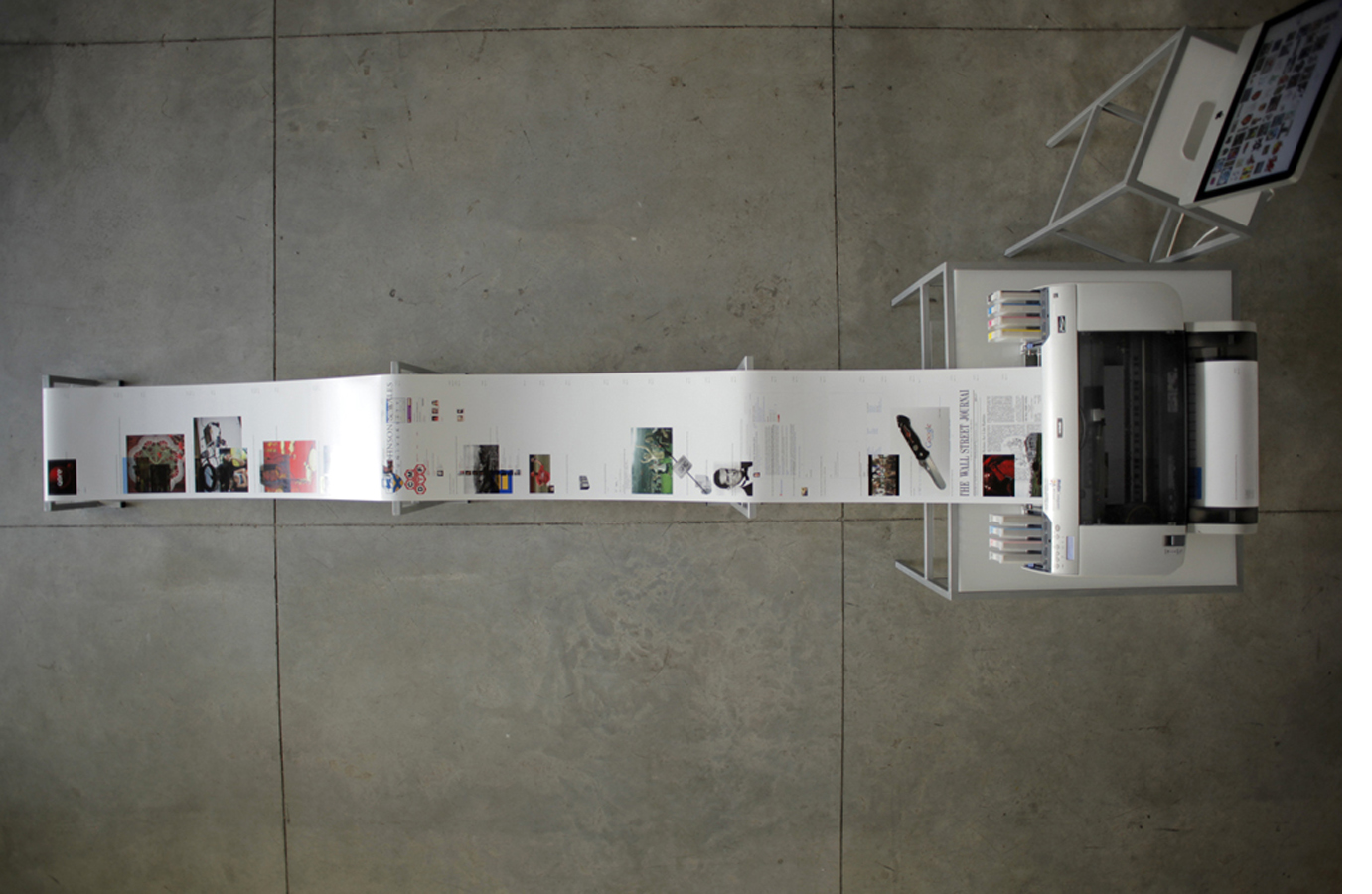 Printer in Loop | Installation view | Tavi Art gallery, Tel-Aviv