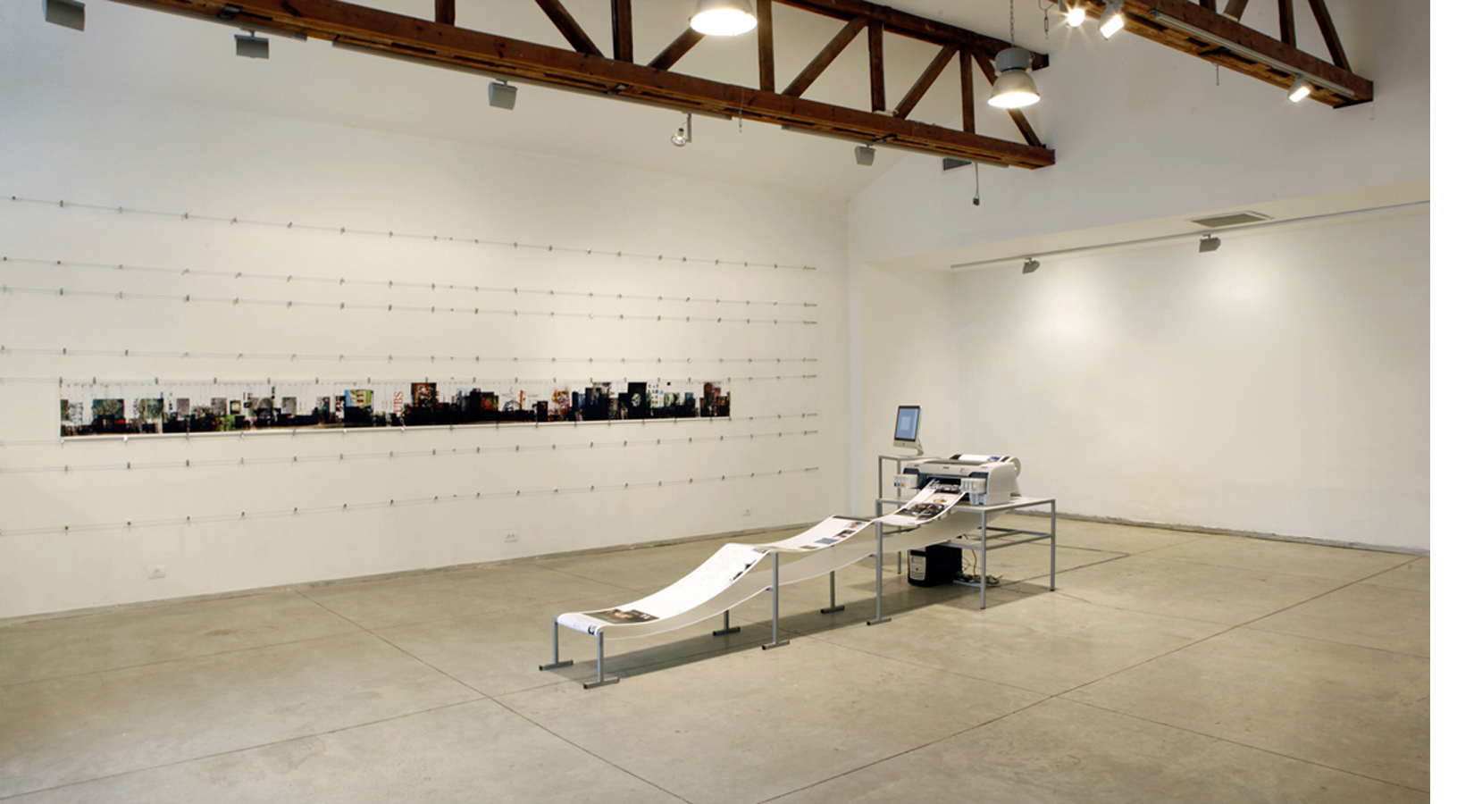 Printer in Loop | Installation view-week n.2 | Tavi Art gallery, Tel-Aviv