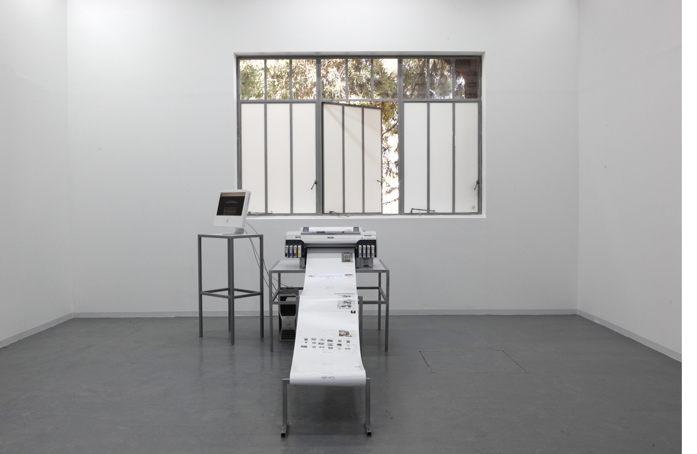 Printer in Loop | Installation view | Bezalel Academy for Art and Design, Jerusalem