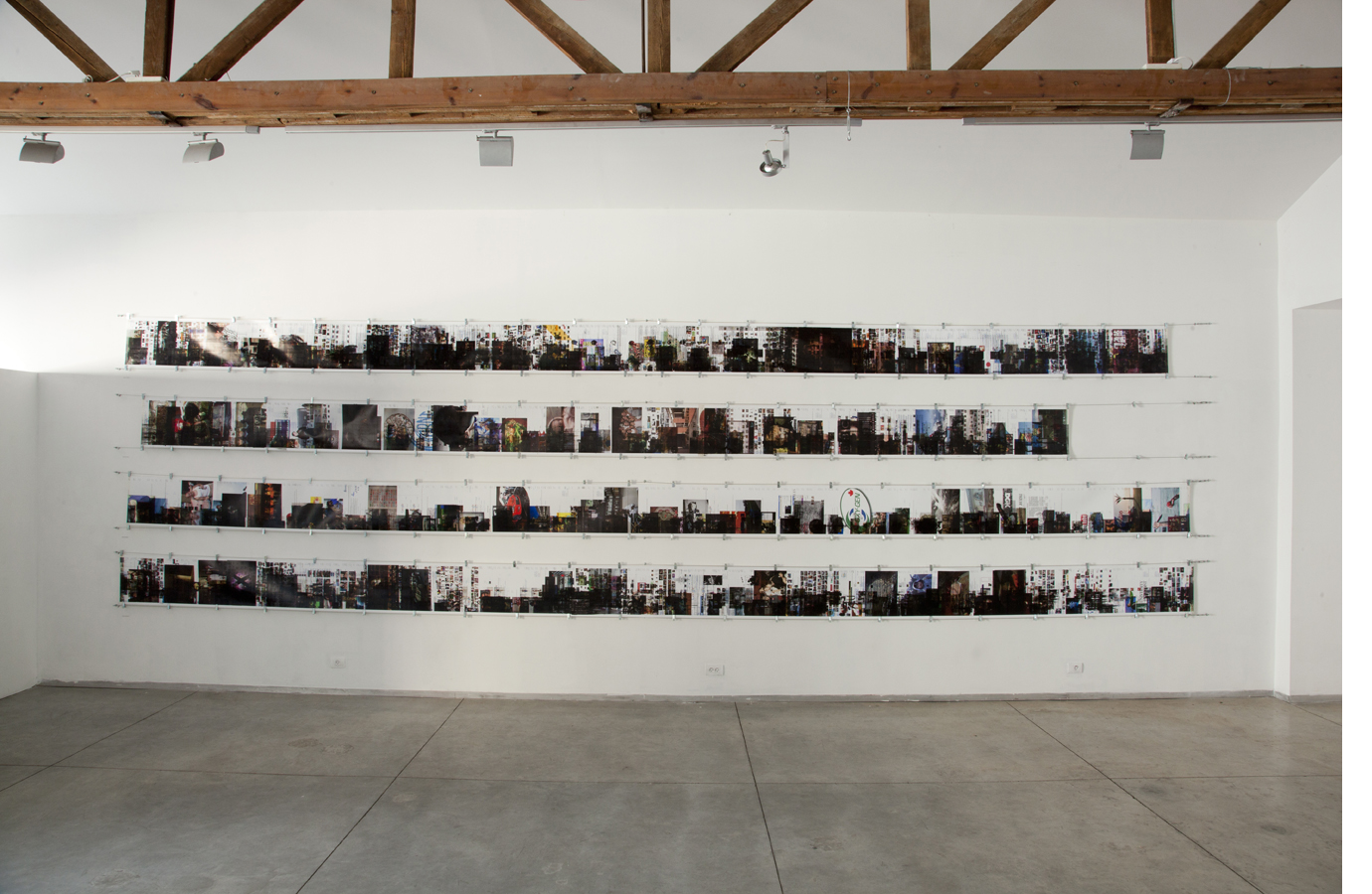 Printer in Loop | Installation view-week n.4 | Tavi Art gallery, Tel-Aviv