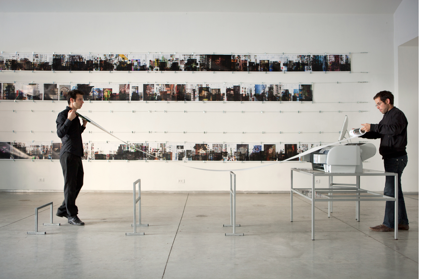 Printer in Loop | Installation view-week n.3 | Tavi Art gallery, Tel-Aviv